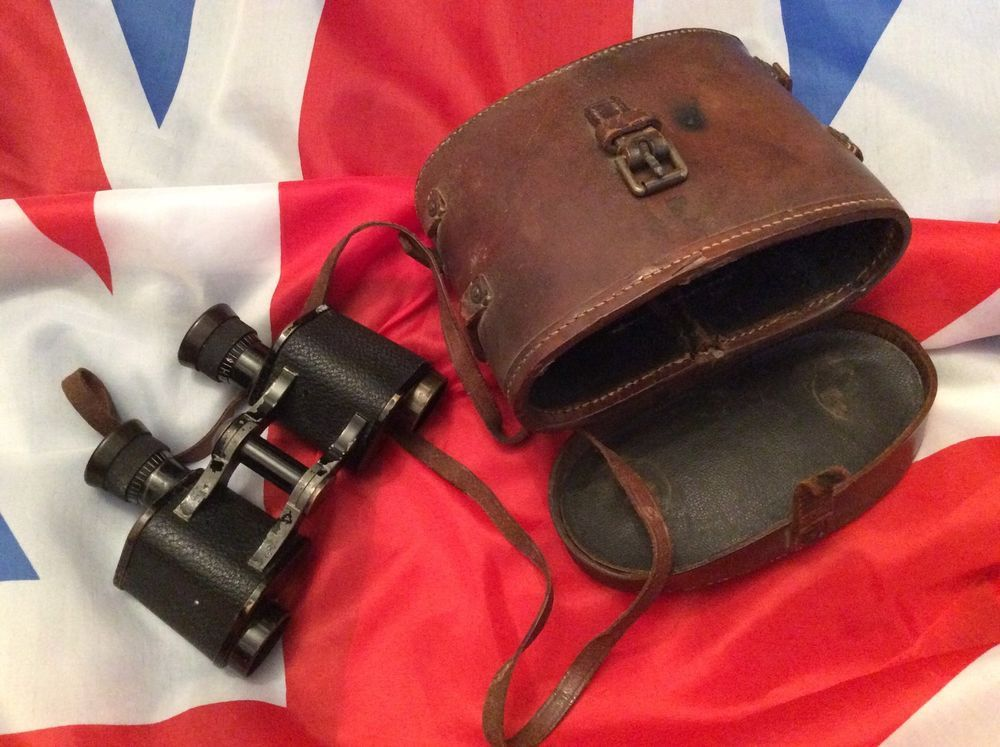 british army ww1 bausch lomb 8x25 binoculars zeiss lenses 1916 dated case ebay