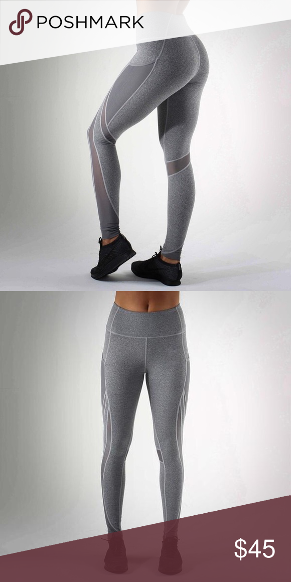 eaff4c121f732 Leggings Active Women's Workout Leggings Mesh Splice Running Tights  Breathable Sport Pants High Waist Stretchy -