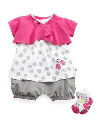 Three-Piece Polka-Dot Set, 3-9 Months by Petit Lem at Last Call by Neiman Marcus.