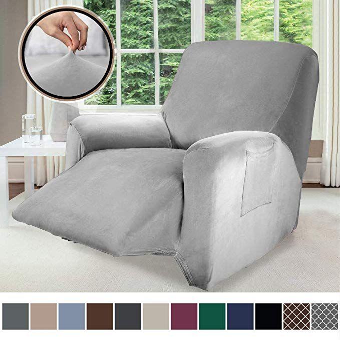 Sensational Gorilla Grip Original Velvet Fitted 1 Piece Recliner Andrewgaddart Wooden Chair Designs For Living Room Andrewgaddartcom