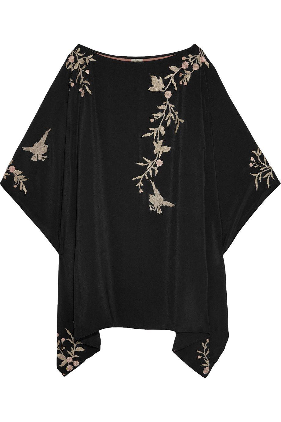 bdf0401cbd5 Talitha   Embroidered silk kimono mini dress   NET-A-PORTER.COM ...
