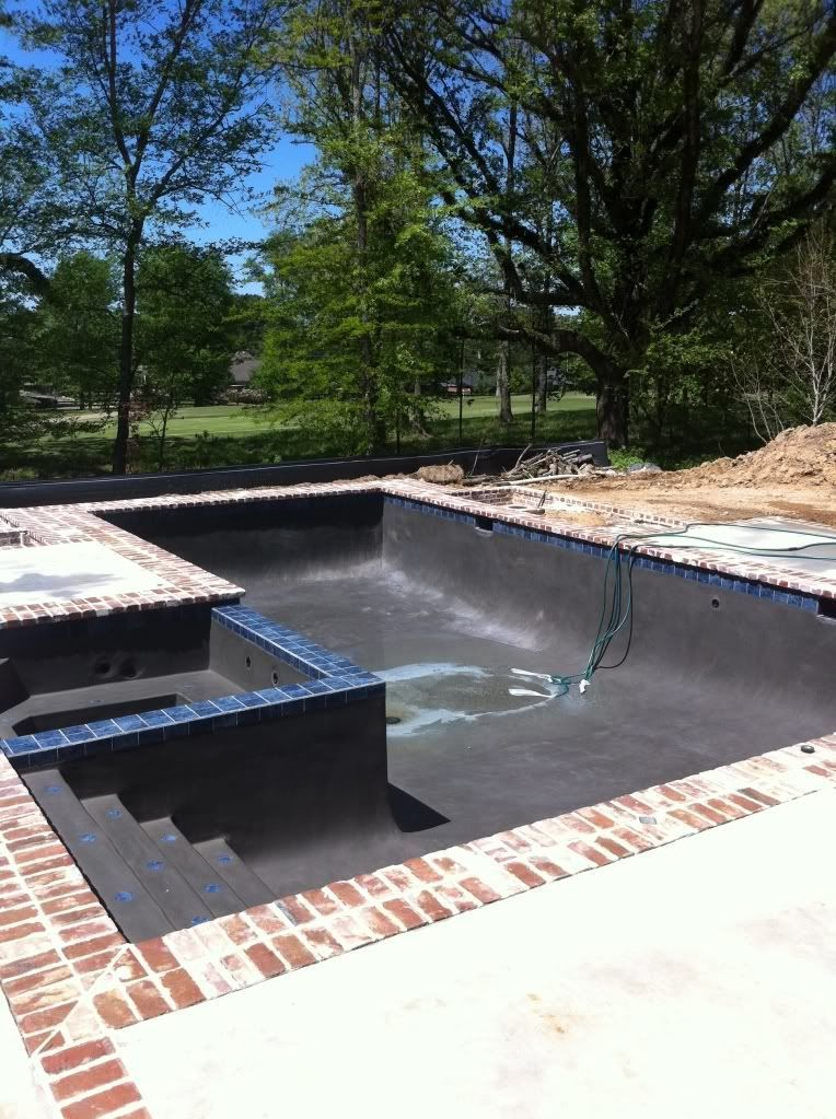 New L Shaped Pool In Mississippi With Pics Small Inground Pool Backyard Pool Landscaping Small Backyard Design