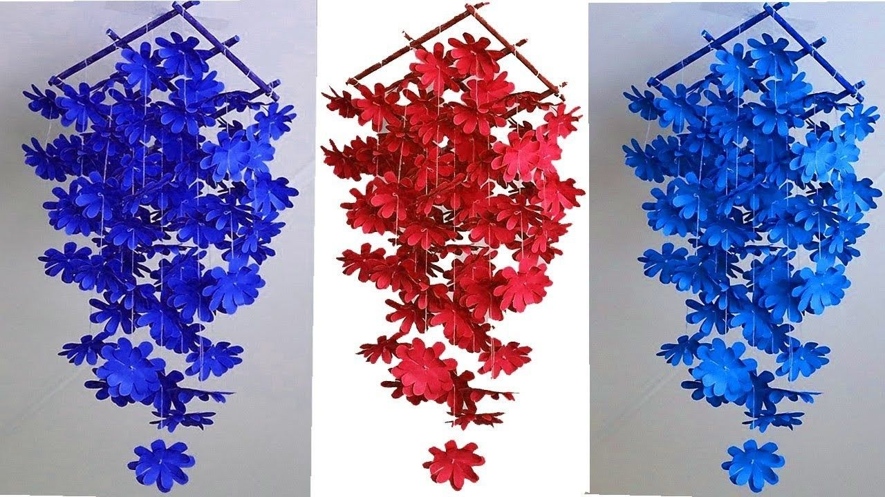 Diy Simple Home Decor Ideas Hanging Flowers Handmade Decoration For Wall