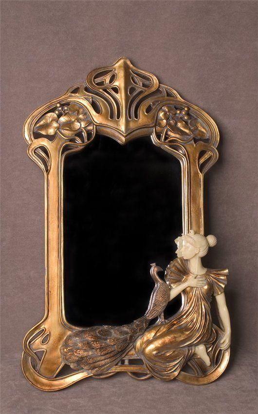 art art nouveau mirror a t n pinterest jugendstil jugendstil malerei und. Black Bedroom Furniture Sets. Home Design Ideas