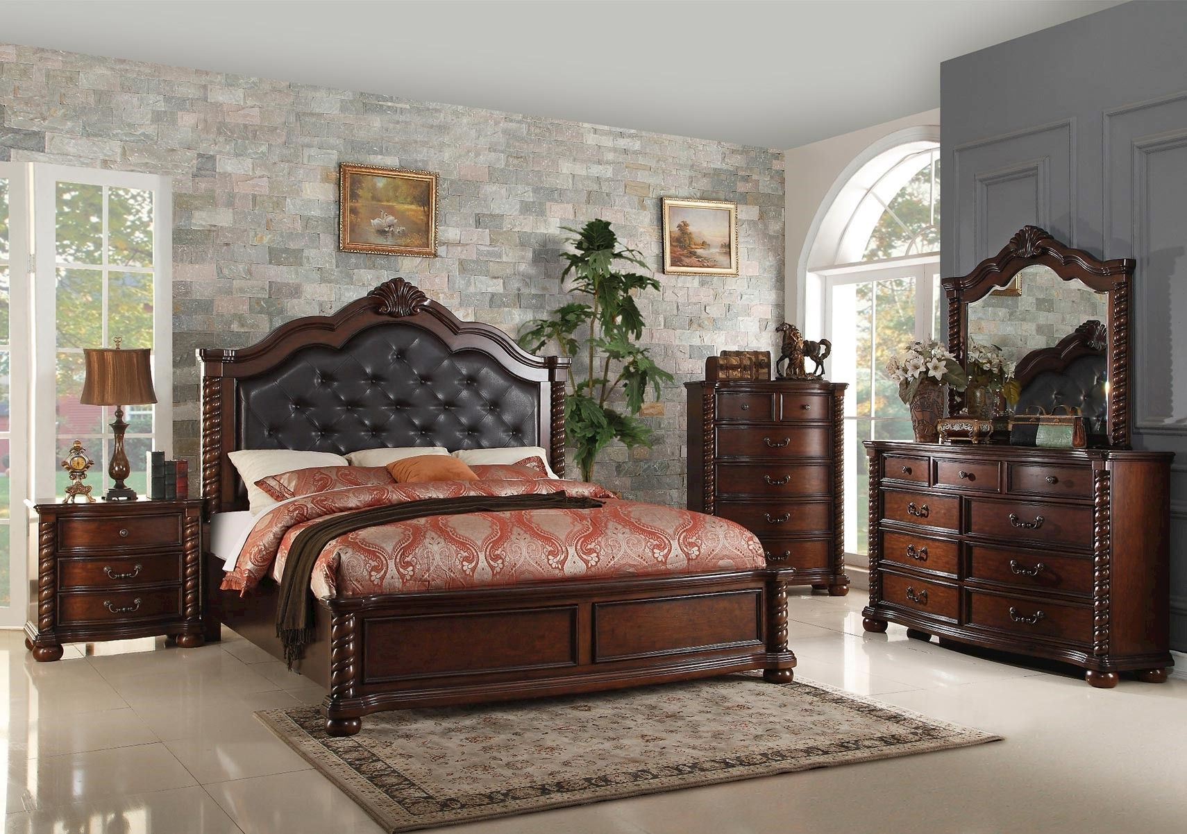 Lacks Montarosa 4 Pc Queen Bedroom Set Bedroom Sets Queen Bedroom Furniture Sets