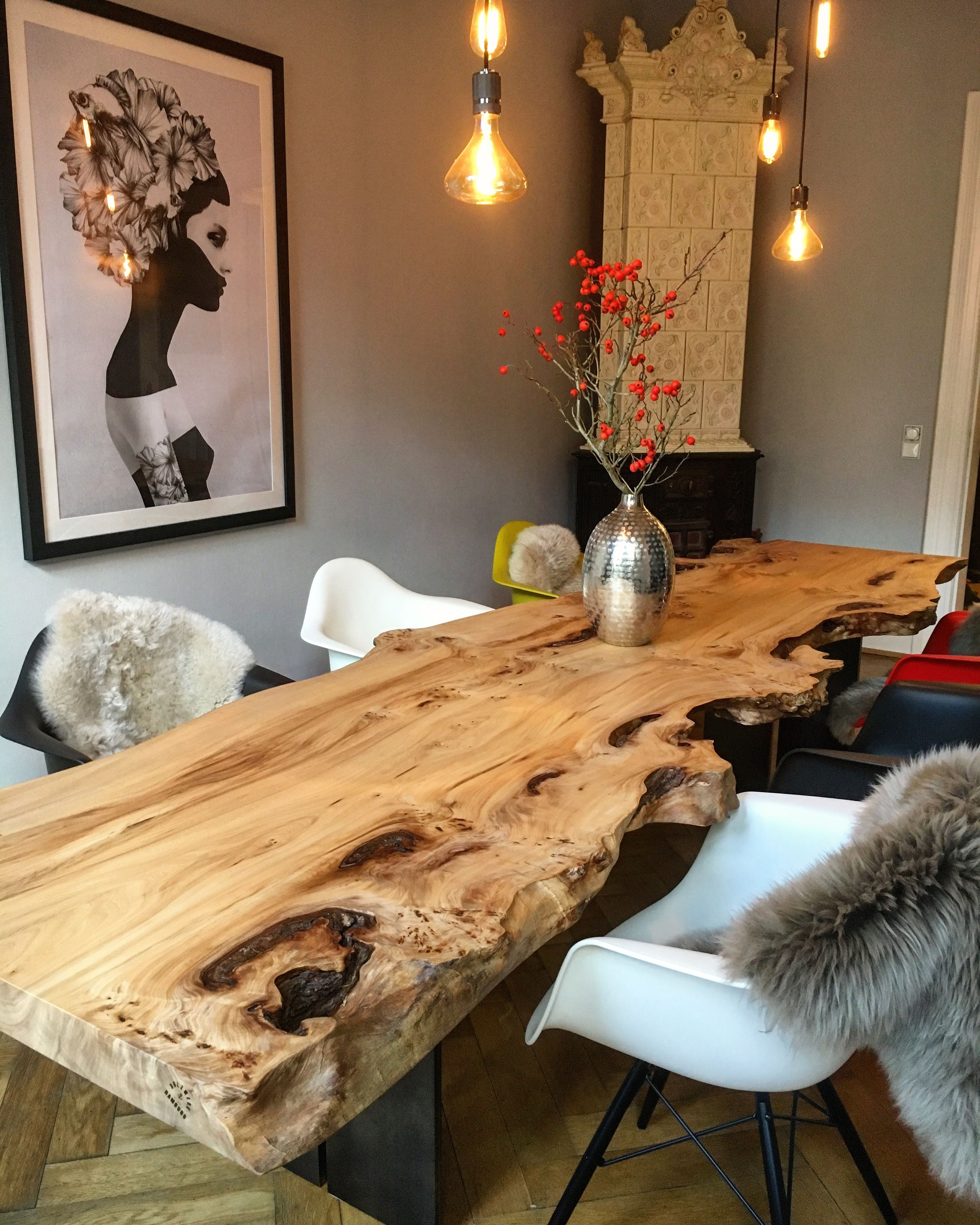 Esstisch Massivholztisch Tisch Stammtisch Baumtisch Altbau ...