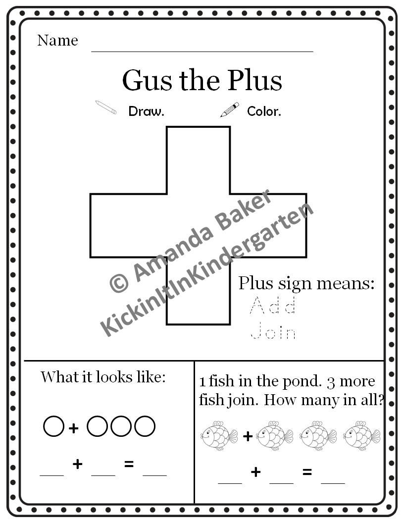 Gus The Plus Addition Worksheet With Mini Books Great Intro To Addition Example Anchor Chart I Kindergarten Anchor Charts Anchor Charts Addition Kindergarten [ 1056 x 816 Pixel ]