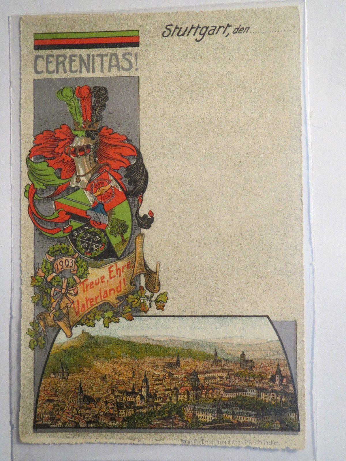 Stuttgart Technische Verbindung Cerenitas Wappen Studentika | eBay
