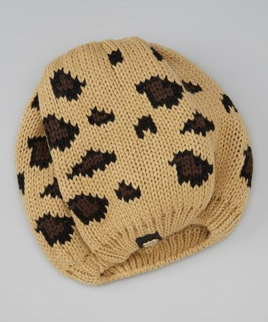Leopard Knit Hat