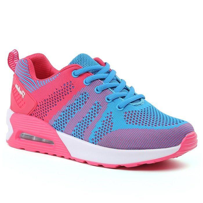 hot sale online ead81 8eac9 Color Block Air Cushion Breathable Athletic Shoes - BLUE ...