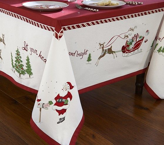 Christmas Tablecloths.Christmas Tablecloth Pottery Barn Kids I Love This