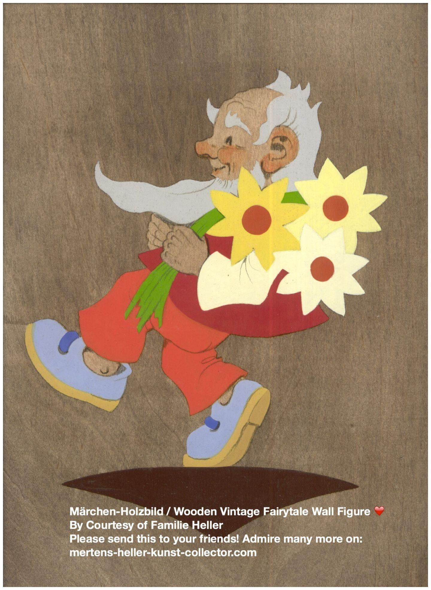 No 3002. Hellerkunst: Zwerg mit gelben Blumen / Dwarf Carrying Yellow Flowers – MHKC – Christiane Dietz