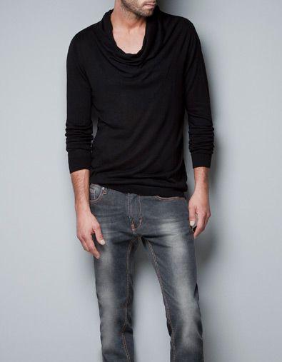 WIDE NECK SWEATER - Knitwear - Man - ZARA United States | Fitz ...