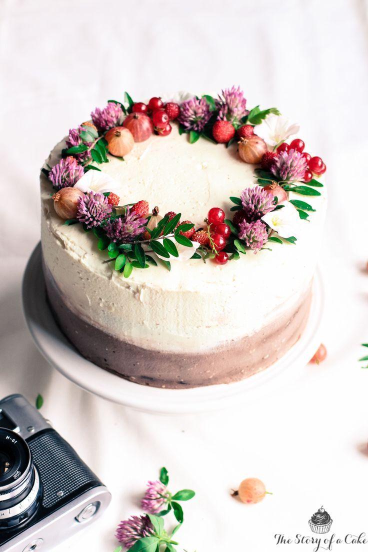 Black White Chocolate Summer Cake Simple Wedding Cakes