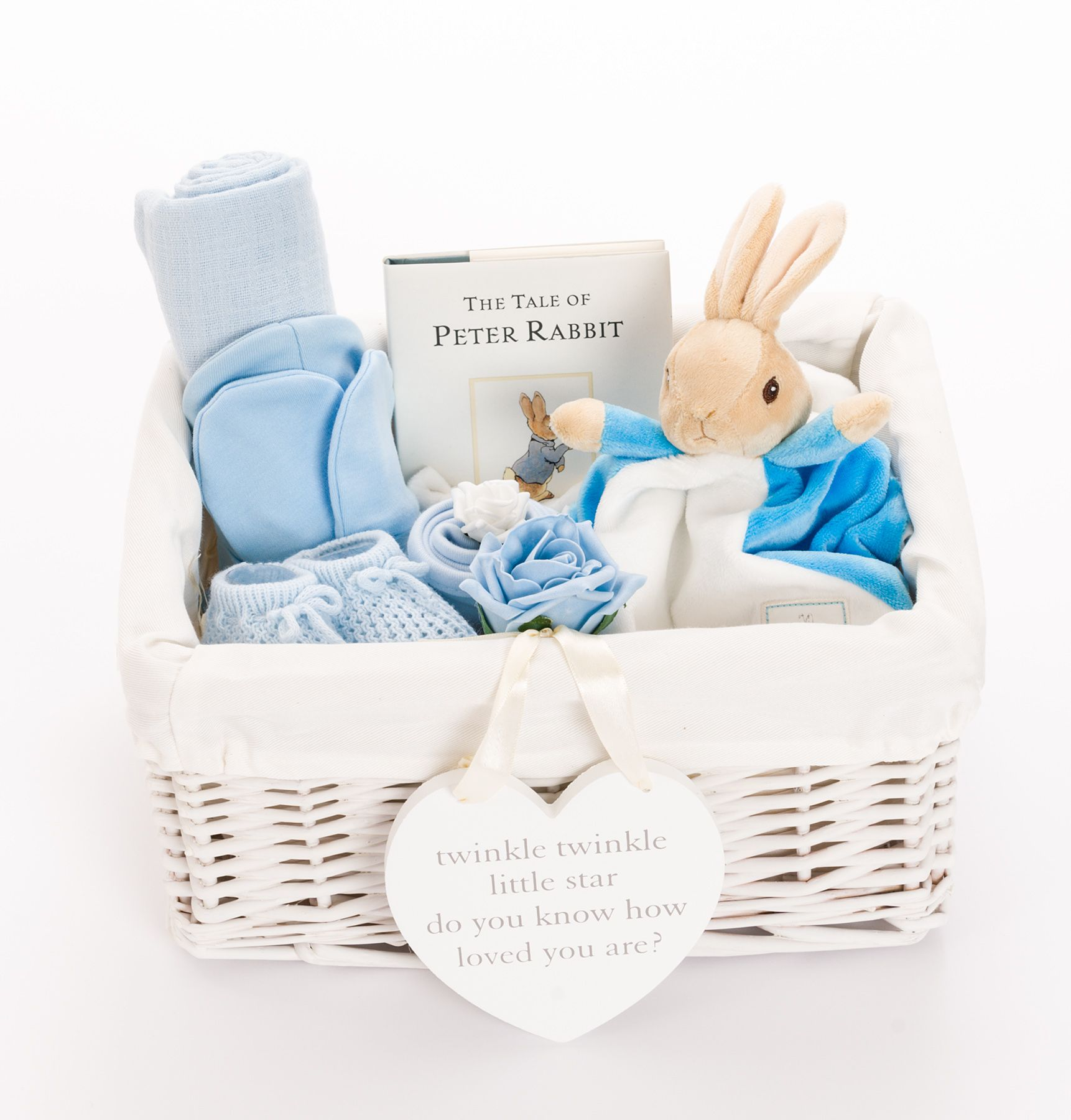 73d2309214cc Peter Rabbit Baby Boy Hamper. Our Peter Rabbit themed baby hamper makes a  perfect basket of gifts to welcome a newborn baby boy. This beautiful hamper  will ...