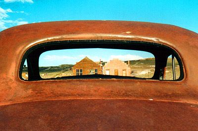 Ten state parks you can't miss. Rusted car window, Bodie State Park, California (Photo: Molly Feltner)
