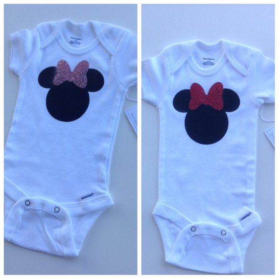 0586f1904daa Baby Onesie This Minnie Mouse onesie is 100% cotton, you can choose from
