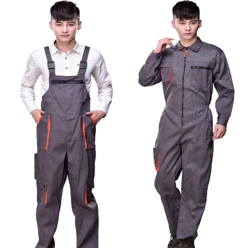 Arbeit overalls männer frauen schutzanzug werker strap overalls hosen  arbeits uniformen Plus Größe sleeveless overalls 197fb9da22e2