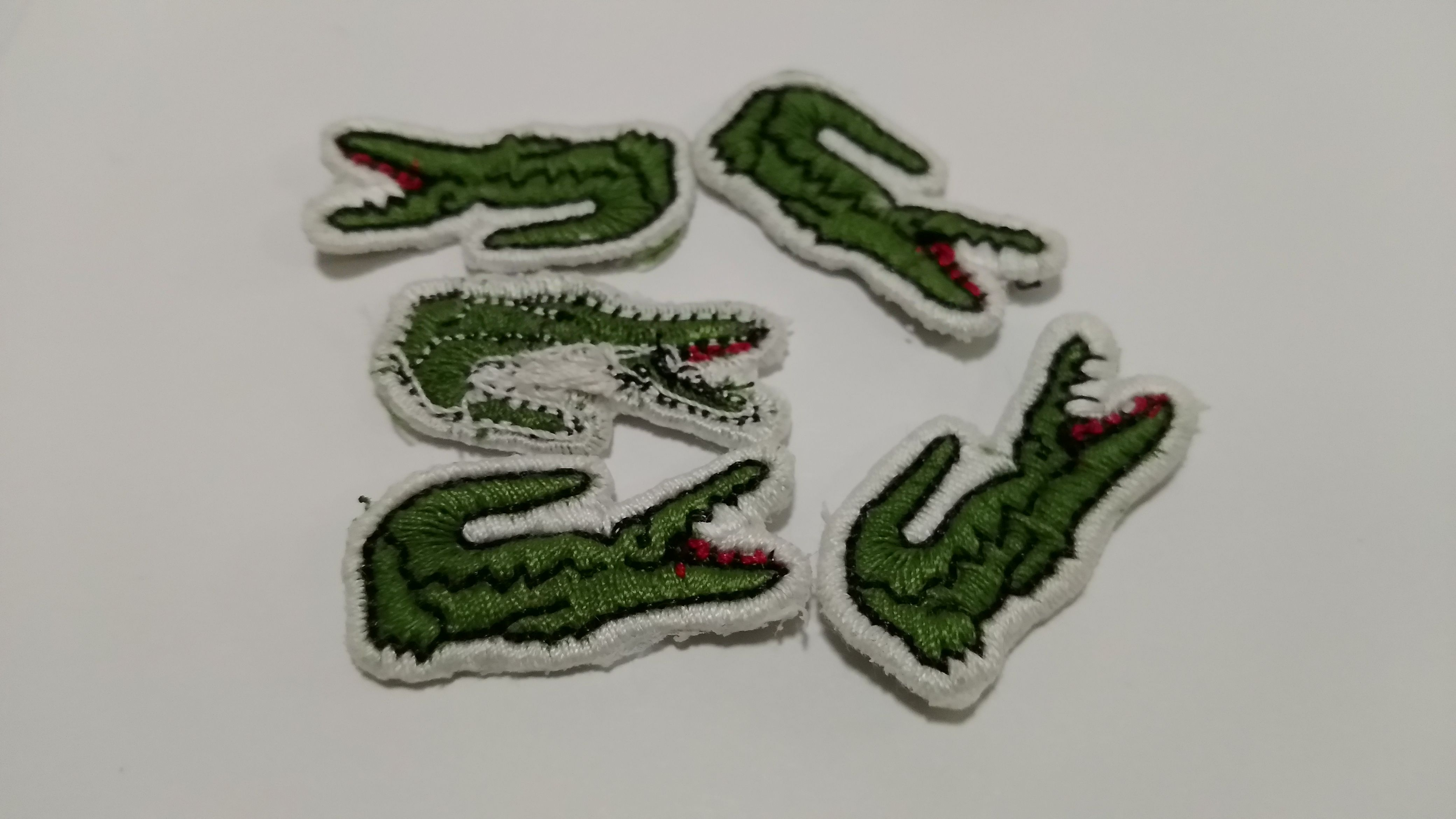 8530077d2 From KSTHL labels fatory  Alligator embroidery patch Lacoste crocodile  clothing Patch MOQ  300PCS Contact me at joyce ksthllabels.com