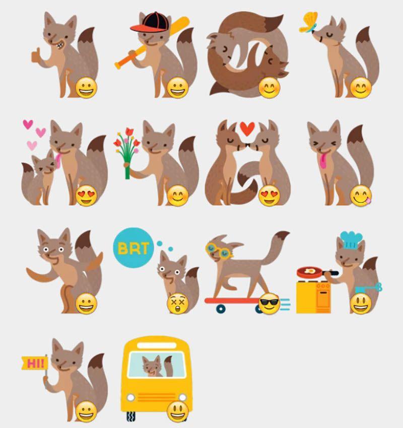 Facebook Foxes 2 Stickers Set Telegram Stickers Naklejki