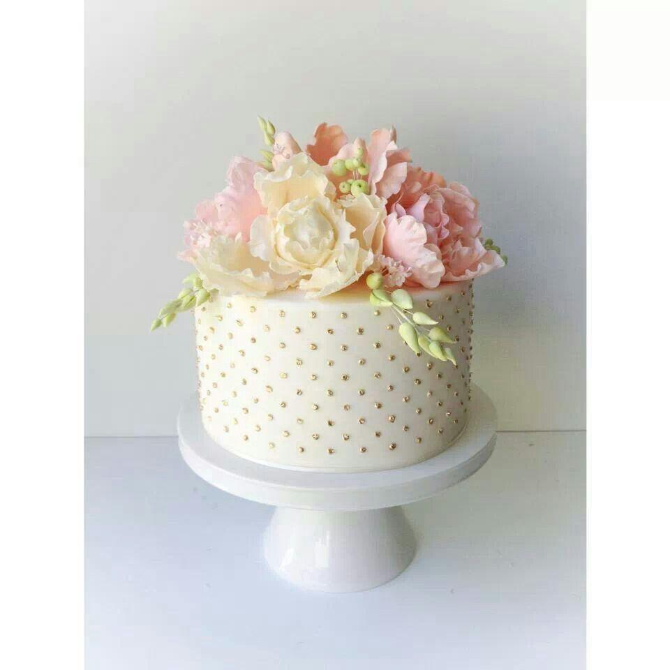Peony gold spot cake 1 Pasta Cenneti Pinterest Peony Cake and