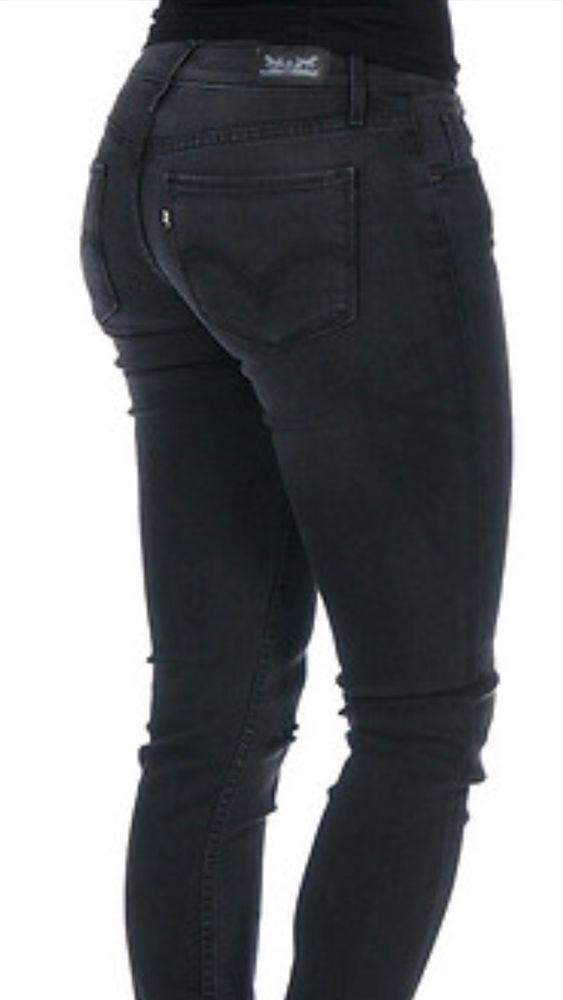 5cd7fca1f7ac Levi's 524 Black Skinny Jeans Women's Distressed Jr. Size 17 Or 33 X 32 NWT  #Levis #SlimSkinny
