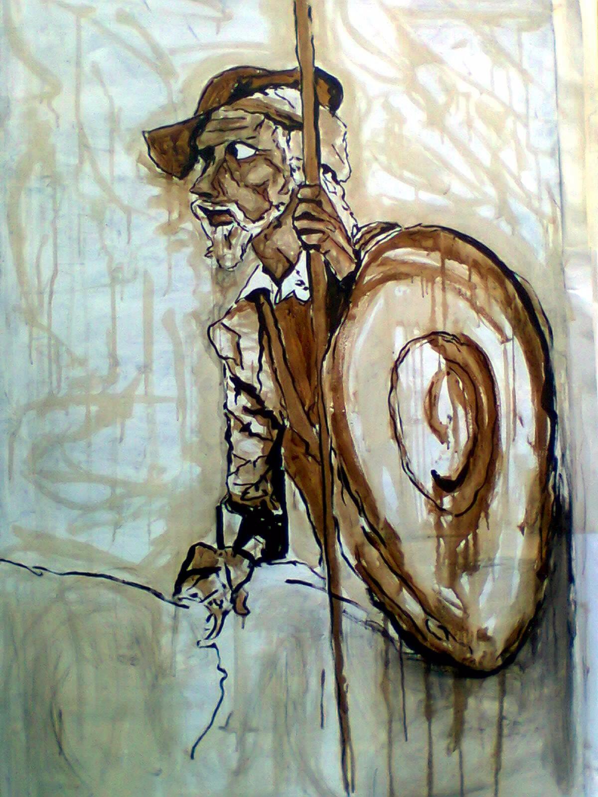 Pintura Hecha Con Caf Soluble Pintura Pinterest Pintura