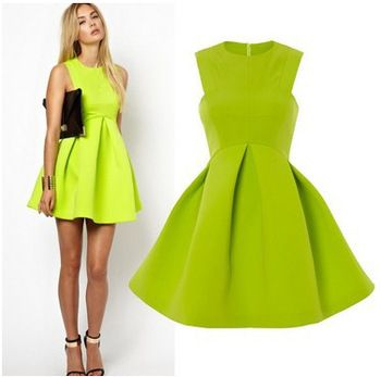 Lime green dress | Fashion I love | Pinterest | Romantic, Print ...