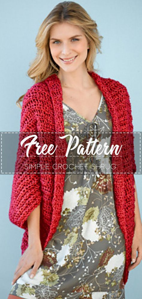 Simple Crochet Shrug – Pattern Free