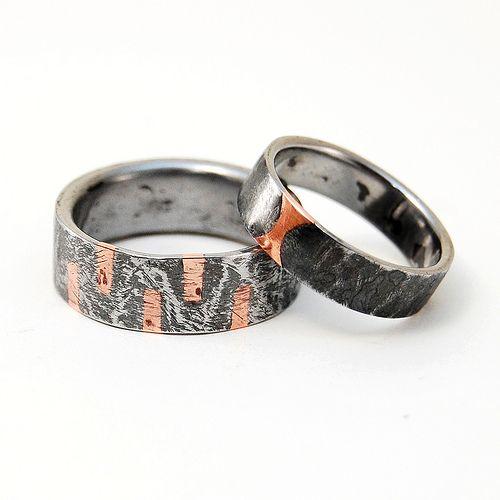 Custom wedding bands | These bands I designed together with … | Flickr