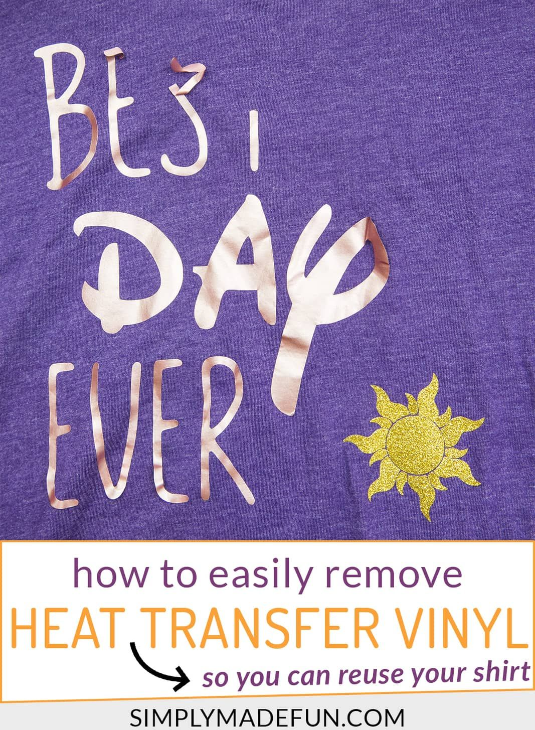 How to remove heat transfer vinyl from shirts heat
