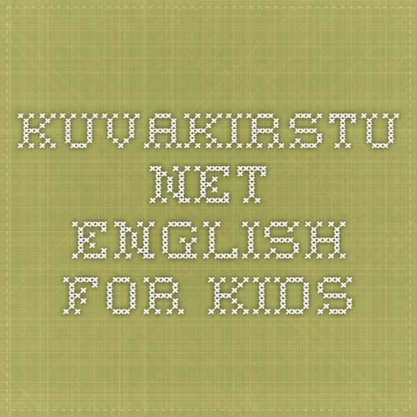 kuvakirstu.net - English for Kids