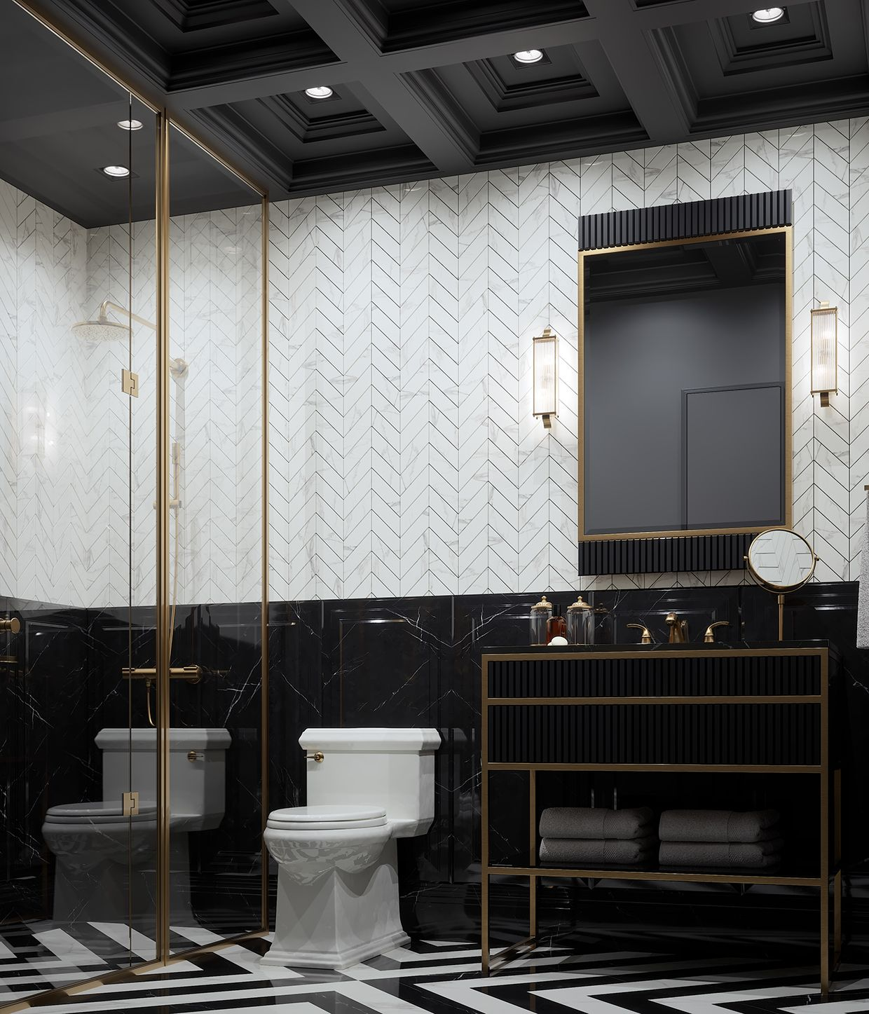 Masculine Master Baths: Pin By Afra Ozgen On Bathroom In 2019