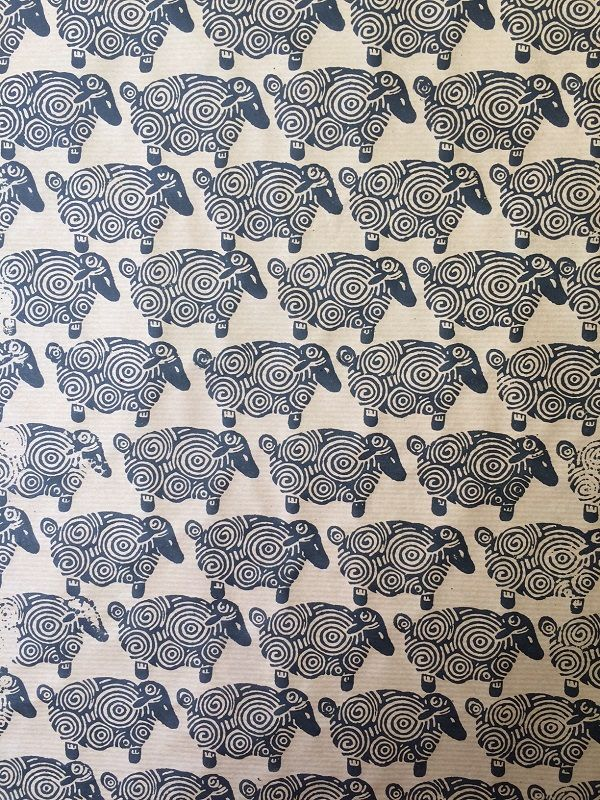 How funky is this alternative wrapping paper, all hand printed using an Indian wooden printing block!