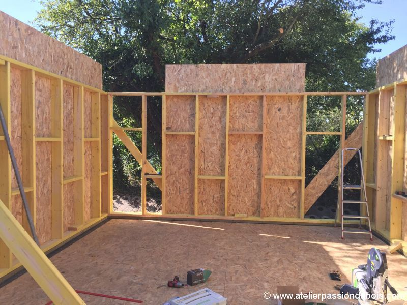 chantier auto-construction toit terrasse toiture végétalisée