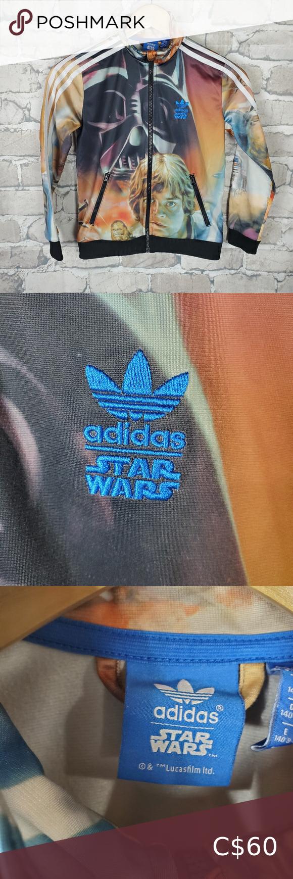 Adidas Star Wars Zip Front Track Jacket Sz Small Adidas Star Wars Track Jackets Adidas Zip Hoodie [ 1740 x 580 Pixel ]