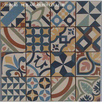 Mosaique Sol Et Mur Antan Mix Couleur Leroy Merlin Carreau De Ciment Sol Et Mur Mosaique