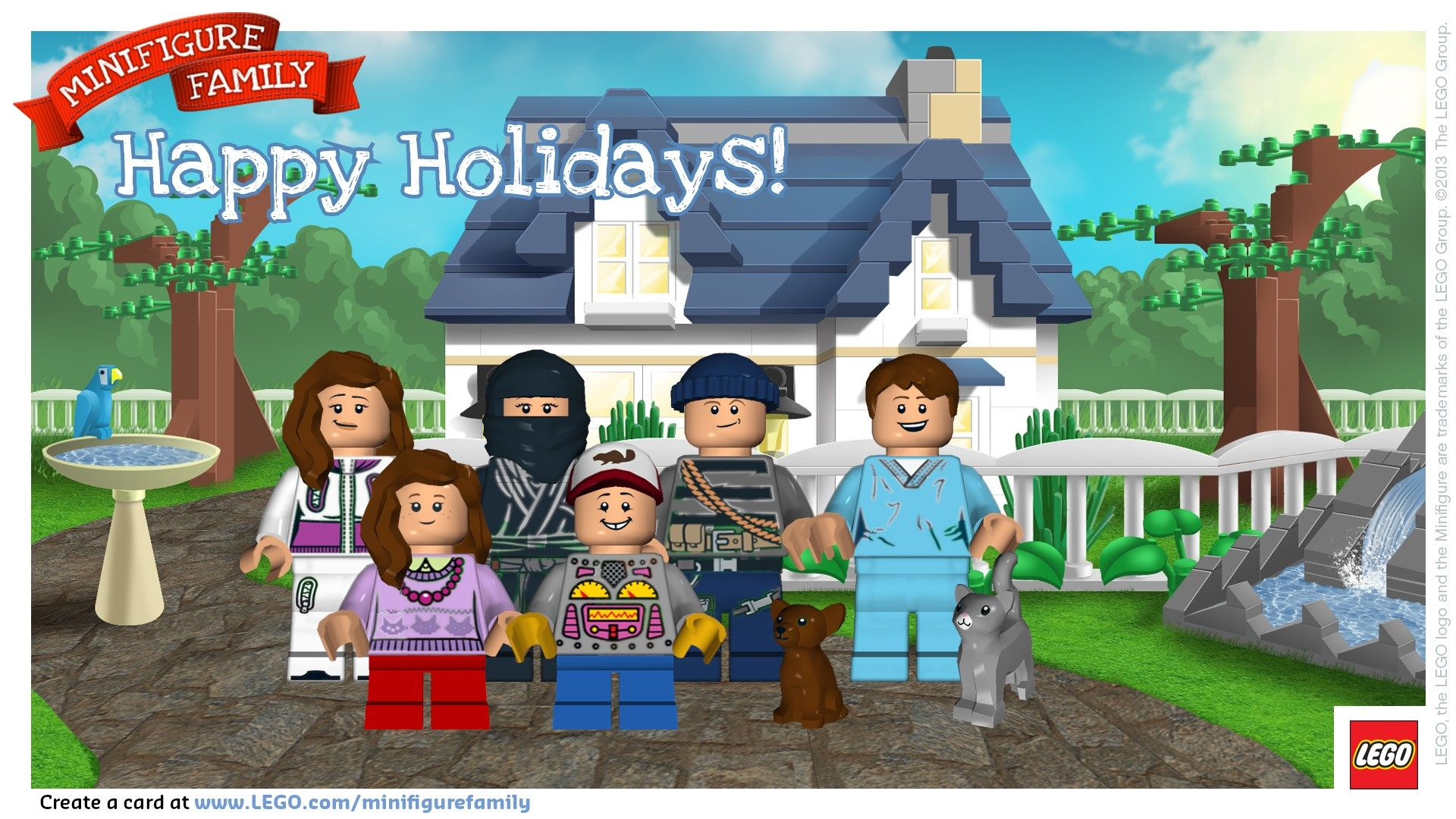 LEGO Minifigure Family Holiday Card | Christmas | Pinterest | Lego ...