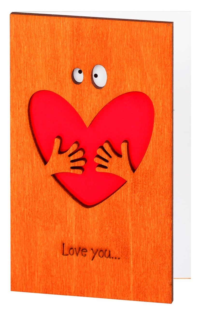 Love you valentine anniversary card original gift for boyfriend wood work small businesses husband love you valentine anniversary card original gift for boyfriend him men colourmoves