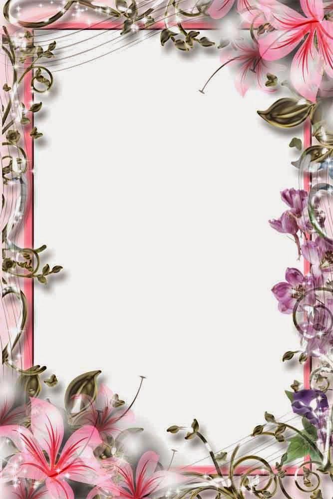 http://www.4frame.co/2015/01/flowers-frame.html | molduras ...