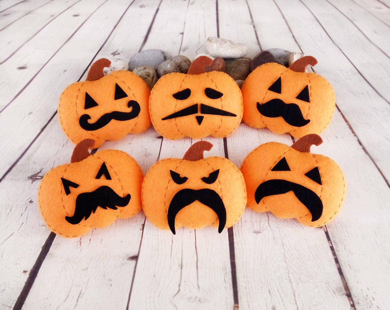halloween decor pumpkin mustache baby shower halloween gift felt toy jack o lantern thanksgiving decor autumn - Etsy Halloween Decorations