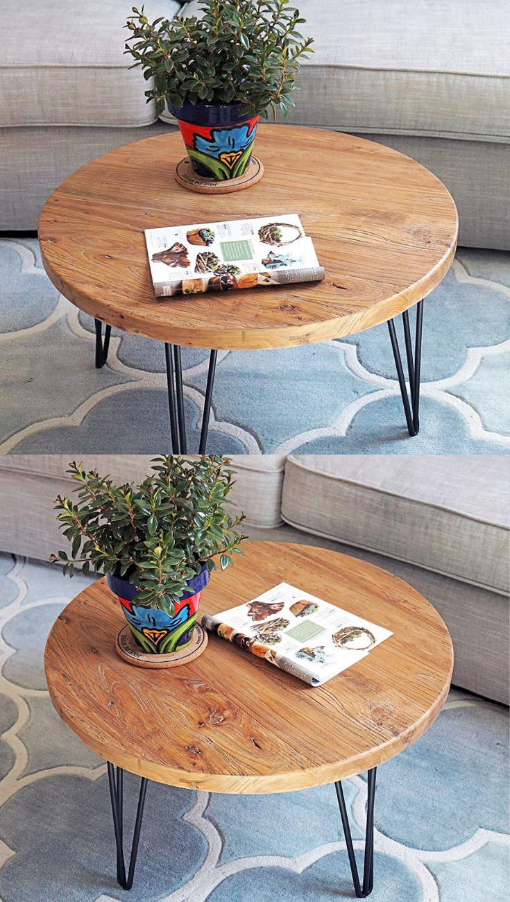 Rustic Round Old Elm Elm Coffee Table Coffee Table Decorating Coffee Tables [ 1300 x 735 Pixel ]