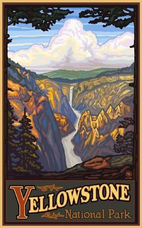 United States Yellowstone National Park Posters Travel Posters Travel Artwork