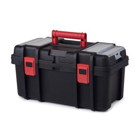 Hyper Tough 22-Inch Toolbox, Plastic Tool and Hardware Storage
