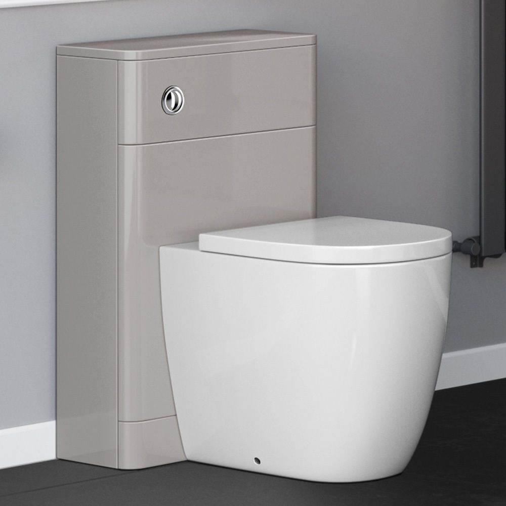 500mm Cashmere Back To Wall Toilet Unit Cistern Bathroom Furniture Mf929 Nlt