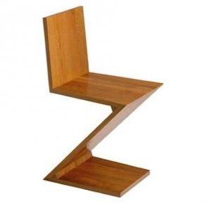 Zig Zag Hocker P/100 by Gerrit Rietveld 1934 - Bauhaus design