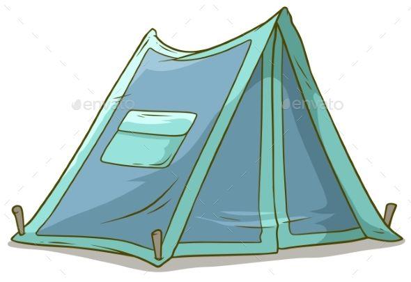Cartoon Blue Camping Tent With Pocket Camping Cartoon Tent Camping Tent