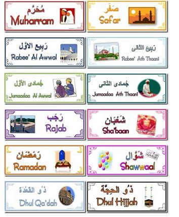 Islamic Months Calendar Banners Islamic Kids Activities Muslim Kids Activities Islam For Kids