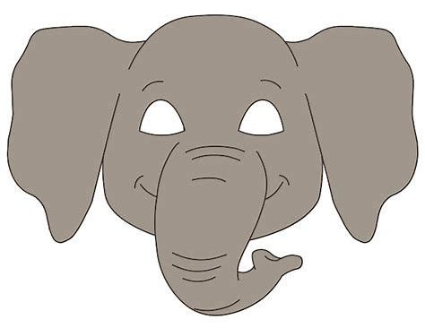 Image Result For Elephant Face Mask Template
