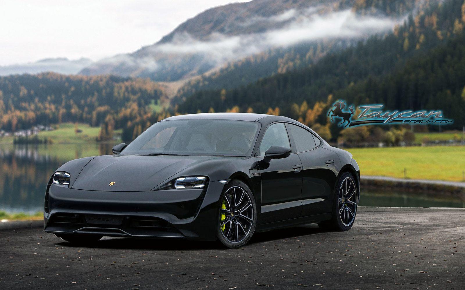 2020 Porsche Taycan EV Auto meisjes, Auto, Achtergronden